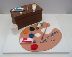 2 Tier Superhero Birthday Cake Artist