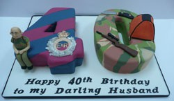 army 40th cake