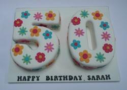 Girls 50th Birthday Cake
