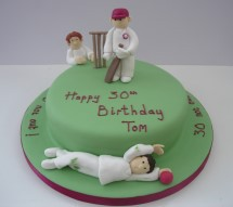 1 Tier Cricket Birthday Cake